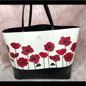 Kate Spade novelty poppy tote with matching wallet